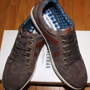BEN SHERMAN KNOX BROWN SUEDE LACE UP SNEAKER